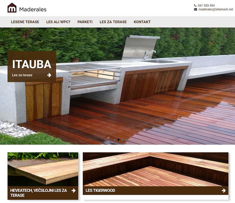 Izdelava spletne strani Madelares